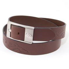 Denver Broncos Branded Brown Leather Belt
