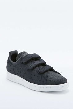 adidas Originals Stan Smith Black Velcro Trainers