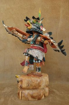 The Eagle Kachina represents strength & power. He is the ruler of the sky and the messenger to the heavens. This sacred Kachina is the overseer of all of the Kachinas and is a honored guest who receives many presents.