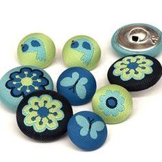 Botones Forrados Natura (9Unds) Painted Rocks, Sewing, Fashion, Covered Buttons, Print Fabrics, Dressmaking, Manualidades, Trapillo, Rocks