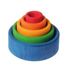 Grimms - Small Bowls Coloured (Blue) - Village Toys