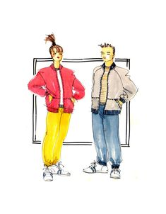 90s Justknits 96621 Childs' Jacket with or without Hood, Sweatshirt, Track Pants & Vest, U/C, Factory Folded, Sewing Pattern Multi Size 2-12 Sewing Patterns, Size 2, Track, Vest, Sweatshirts, Children, Pants, Jackets, Stitching Patterns