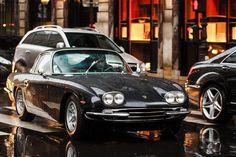 Lamborghini 400 GT. Rue Faubourg Saint Honore, Paris