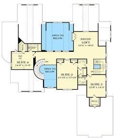 Award Winning Craftsman Manor - 17532LV floor plan - 2nd Floor