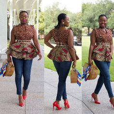 Ankara tops are becoming increasingly common these days and why not? Ankara tops can go African Tops, African Wear, African Attire, African Fashion Dresses, African Women, African Dress, Ankara Fashion, African Clothes, African Style