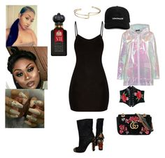 """""""Shopping w/The Girls"""" by awande-duma on Polyvore featuring Nasty Gal, Dolce&Gabbana, Boohoo, Gucci and Clive Christian"""