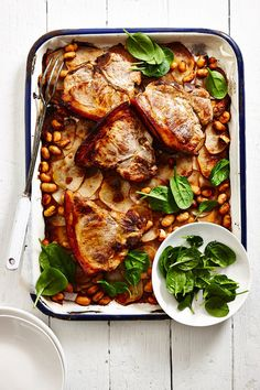 ... Mirin Pork Chops with Miso Potatoes and Butter Beans | Food | MiNDFOOD