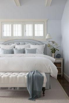 Cottage Great Room with Exposed beam, Casement, Standard height, Hardwood floors, bedroom reading light