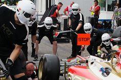 HRT Formula One Team HRT practice pit stops. Formula One World Championship, Rd10, German Grand Prix, Preparations, Hockenheim, Germany, Thursday, 19 July 2012  © Sutton Images