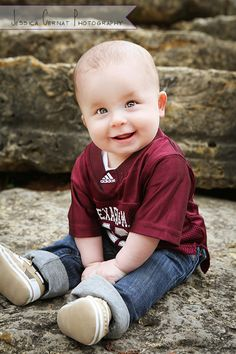 Liam- 6 month old Texas Aggie baby