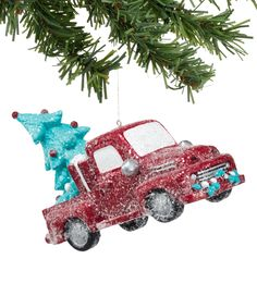 Another great find on Truck Ornament by 1956 Christmas Classic & Cute! Aqua Christmas, Christmas Truck, Christmas Tree Themes, Holiday Ornaments, Christmas Holidays, Christmas Gifts, Holiday Decor, Christmas Stuff, Christmas Ideas