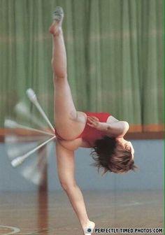Nouvelle discipline olympique: Le frottis acrobatique.