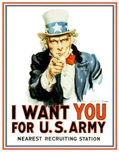 Uncle Sam I Want You Blikskilt