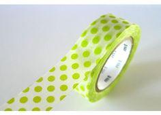 Light Green MT Big Dots Japanese Washi Tape - Single - Single Pattern - Japanese Washi Tape