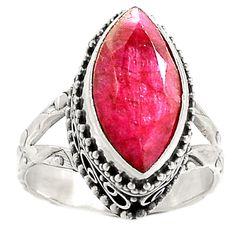 Artisan - Ruby 925 Sterling Silver Ring Jewelry s.7 SR214976   eBay