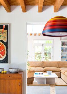 Ashe + Leandro, interior design, top Architectural Digest, home decor, lighting Beach Interior Design, Home Bedroom Design, Beach Design, Venice Beach House, Beach House Decor, Home Decor, Naomi Watts, Mid Century Modern Furniture, Architectural Digest