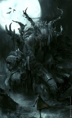 Monster artwork has echoes of bloodbourne
