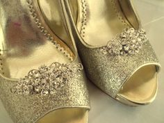 Wedding Shoe Clips Vintage Style Swarovski Crystal Bridal Clips for Wedding…