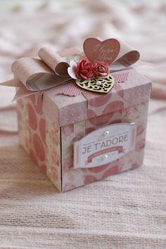 Boite, scrap, scrapbooking, amour, St Valentin, cadeaux, idées