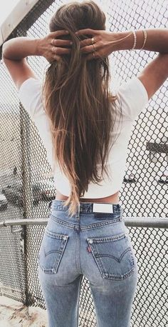 #summer #trendy #outfits | White + Denim