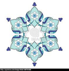 artistic ottoman pattern series nine