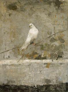 Bird - 130 x 97 - oil and wax on canvas - 2013