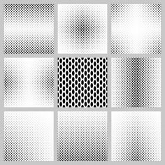 Huge collection of FREE vector designs: Black and white ellipse pattern background set Monochrome Pattern, Geometric Pattern Design, Geometric Graphic, Black And White Background, Geometric Background, Background Patterns, Free Vector Backgrounds, Abstract Backgrounds, Free Vector Patterns