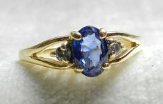 Sapphire Ring Blue Sapphire Engagement Ring by LoveAlwaysGalicia