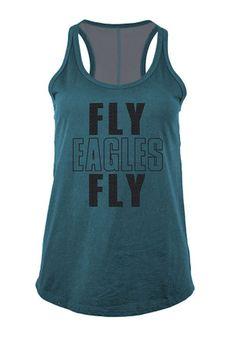 0894127d6 Philadelphia Eagles Womens Teal Training Camp Tank Top Philadelphia Eagles  T Shirt