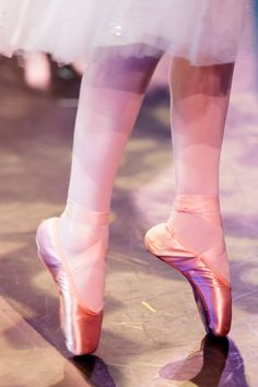 Close up of pink ballet pointe shoes by Daydream Weddings | Two Bright Lights :: Blog