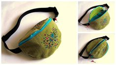 needle felted fanny pack by azzaph and toritextil