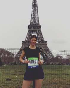 Ready!! #parismarathon2016 #schneiderelectric by annabelbox Eiffel_Tower #France
