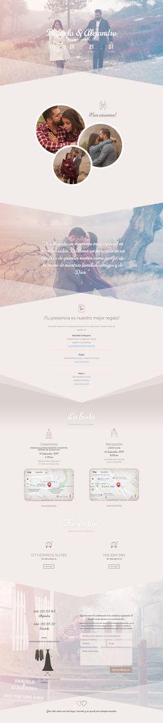 Diseño de Paginas Web desarrollado por HostingPage.Com / Pagina de boda Wedding Invitations, Movie Posters, Art, Wedding Website, Design Portfolio Layout, Page Layout, Digital Invitations, Design Web, Art Background