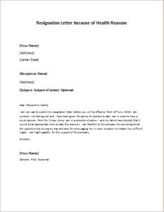 resignation letter because of health reasons download at httpwriteletter2com