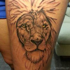category animals tattoos lion tattoos thigh tattoos lion tattoo Lion Tattoo On Thigh, Thigh Tattoos, Thighs, Detail, Artist, Animals, Check, Upper Leg Tattoos, Animaux