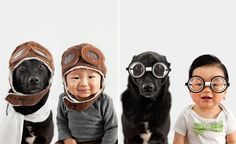 Are you ready for cuteness overload? Meet Zoey and Jasper. I am so inspired by animal photographer Grace Chon, who has documented the budding friendship between her 10 month old baby boy and their rescue pup.