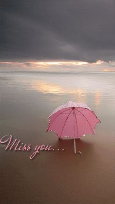Miss You umbrella on the beach Animation Miss U My Love, Miss You Mom, Miss You Images, Love Images, I Miss You Wallpaper, Filly, Happy Sunday Quotes, Fotografia Tutorial, Animation