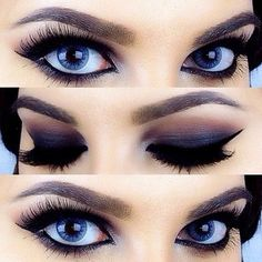 I don't usually wear dark eye makeup, but I would if it turned out like this...beautiful!