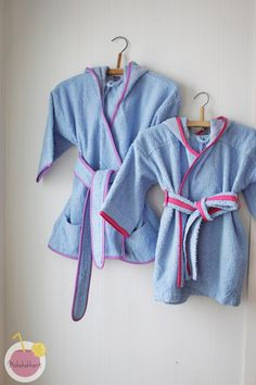 Bath robes for kids from mens old bath robe