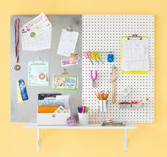 Laundry Room | Make a Memo Board | This command center is simple to make and works wonderfully wherever you need it most -- in the kitchen, by the door, or in the family room | Skill Level: Beginner | Cost: $53 | LowesCreativeIdeas.com