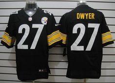 Nike Pittsburgh Steelers #27 Jonathan Dwyer Black Elite Jersey
