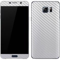 White Carbon Fiber Galaxy Note5 Skin
