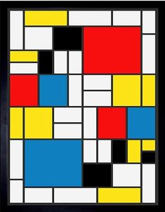 Wee Blue Coo Mondrian Abstract Cubes Squares Old Master Painting Unframed Wall Art Print Poster Home Decor Premium Piet Mondrian, Mondrian Kunst, Bauhaus, Poster Wall, Poster Prints, Art Posters, Painting Prints, Wall Art Prints, S5 Mini