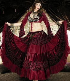 Tribal Gypsy Belly Dance Deluxe 25 yard by ScarletsGypsyLounge, $139.00