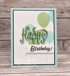Two Tone Happy Birthday, thinlits, Marquee Messages, Birthday Celebration, Stampin' Up!, card, paper, craft, scrapbook, rubber stamp, hobby, how to, DIY, handmade, Live with Lisa, Lisa's Stamp Studio, Lisa Curcio, www.lisasstampstudio.com