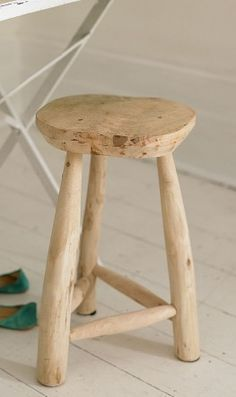 Driftwood stool...how cool!