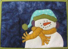 Frosty Mug Rug pattern $3.00 on Craftsy at http://www.craftsy.com/pattern/quilting/home-decor/frosty-mug-rug-306/34826