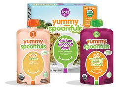 We love Yummy Spoonfuls, which offers baby food in two stages but starts with fresh-picked, single ingredient organic fruits and vegetables, which are cooked, pureed, and packed in BPA-free, microwave-safe pouches. The best part: you can get them at any Target that sells fresh groceries.