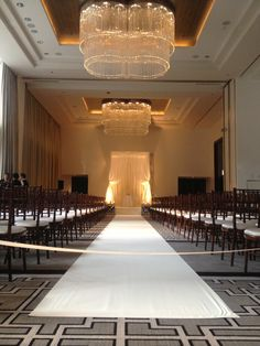 Wedding — in the Devonshire Ballroom at The Langham, Chicago.