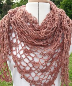 Nutmeg Lace Shawl by AgrarianArtisan | Crocheting Pattern - Looking for your next project? You're going to love Nutmeg Lace Shawl by designer AgrarianArtisan. - via @Craftsy